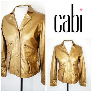 CABI Gold Genuine Leather Moto Jacket